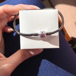 Pandora oxidized bracelet